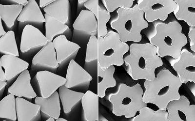 Strauss Fasern Produktquerschnitt Chemiefasern   Stapelfasern